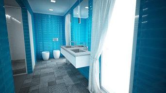 Carrelage rectangle turquoise