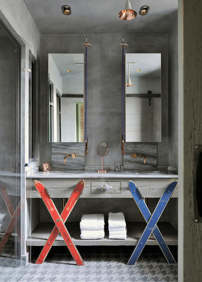 Eclectic Bathroom by Olivier Gay Architecture & Design