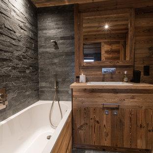 Salle de bain montagne à budget élevé : Photos et idées déco ...