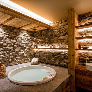 Fotos de baños | Diseños de baños rústicos con jacuzzi