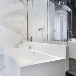 Idées de salles de bain en noir et blanc : Photos et idées déco