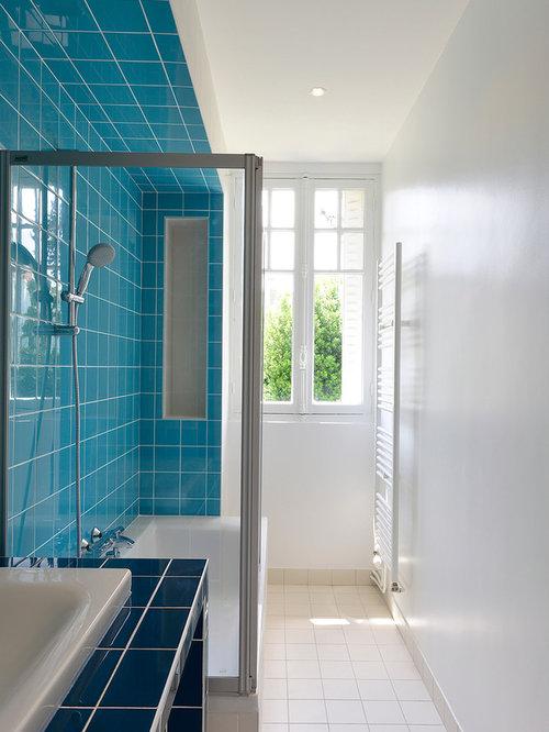 Petite salle de bain photos et id es d co de salles de bain for Salle de bains douche saint paul