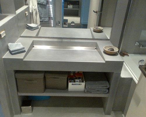 Moderne Badezimmer Beton Lege Ideen & Beispiele für die ...