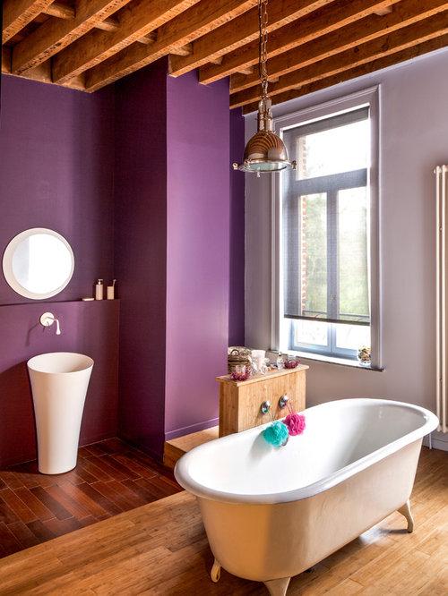 Salle de bain photos et id es d co de salles de bain for Mauve bathroom ideas