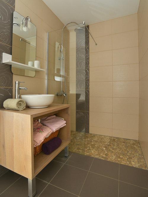 Salle de bain photos et id es d co de salles de bain for Idee salle de bain douche italienne