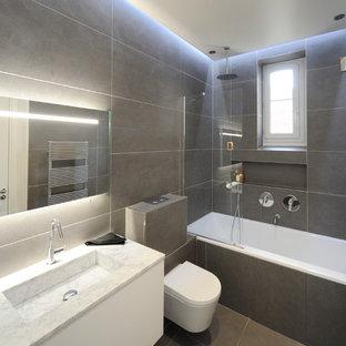 Salle de bain avec carrelage foncé : Photos et idées déco