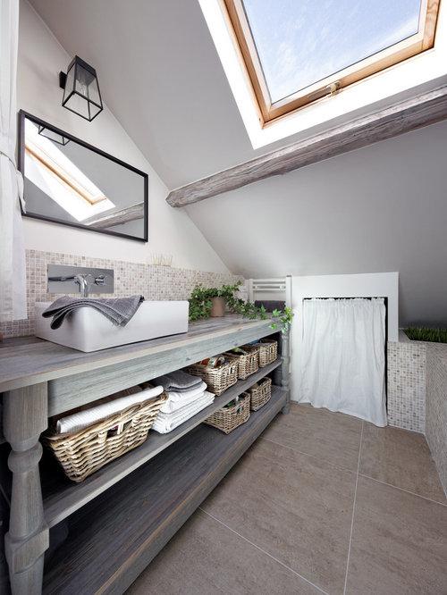 ides dco pour une salle de bain principale contemporaine de taille moyenne avec un placard sans - Salle De Bain Contemporaine