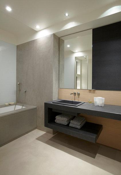 Contemporain salle de bain by bismut bismut architectes for Poser de l ardoise
