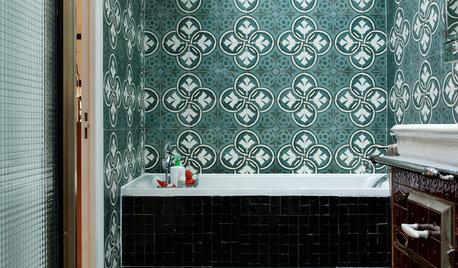 Les carreaux de ciment sont-ils adaptés à la salle de bains ?