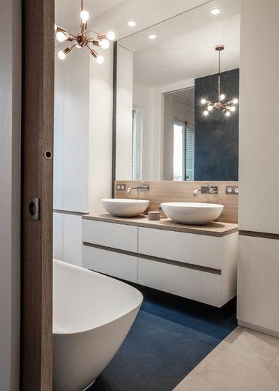 Современный Ванная комната by Miriam Gassmann