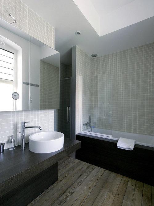 Salle de bain photos et id es d co de salles de bain for Baignoire et douche combinee