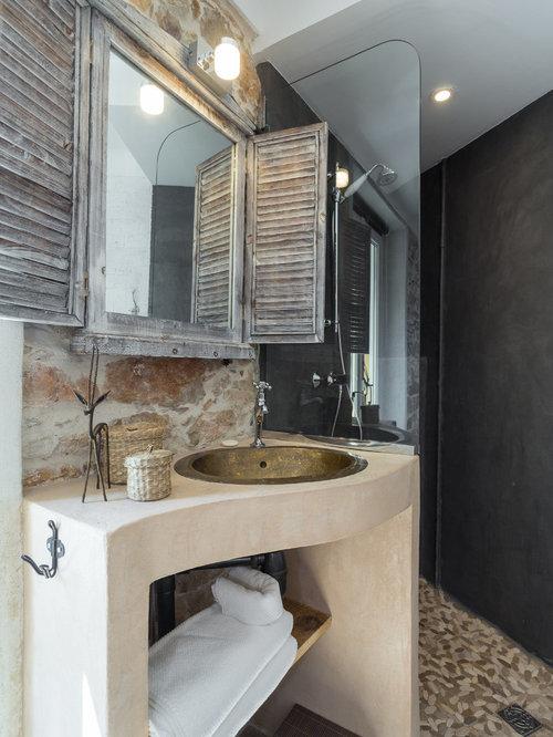 Salle de bain galet papier peint salle de bain vinyle - Galet salle de bain castorama ...