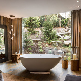 Aménagement d'une salle de bain principale contemporaine de taille moyenne.