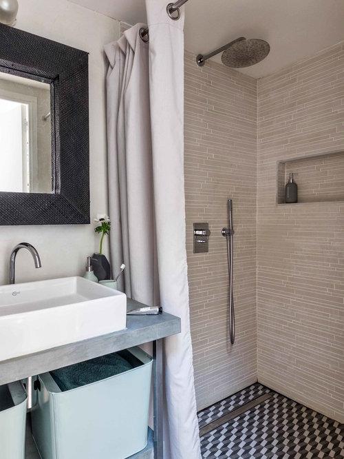 Salle de bain photos et id es d co de salles de bain for Plan salle de bain douche italienne
