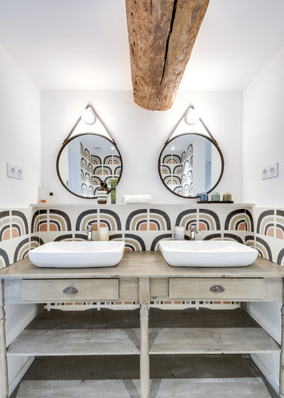 Средиземноморский Ванная комната by blackStones