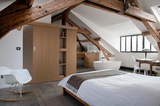 comment am nager une salle de bains dans la chambre. Black Bedroom Furniture Sets. Home Design Ideas