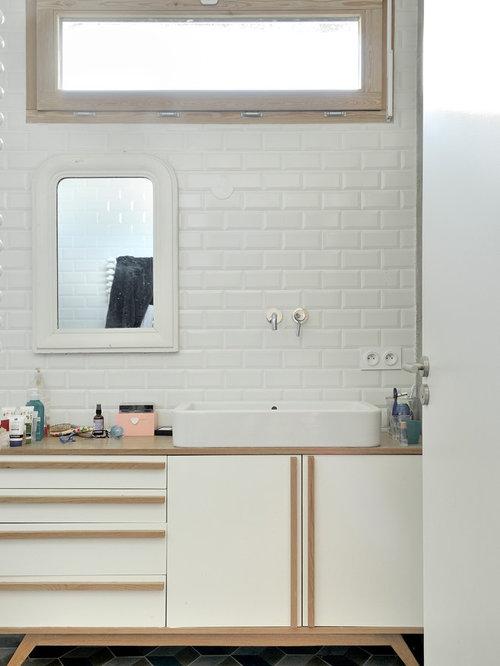 Salle de bain photos et id es d co de salles de bain for Carrelage salle de bain scandinave