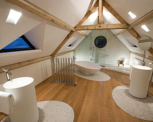 Salle de bain avec un sol en galet photos et id es d co de salles de bain - Modele massief avec galets ...