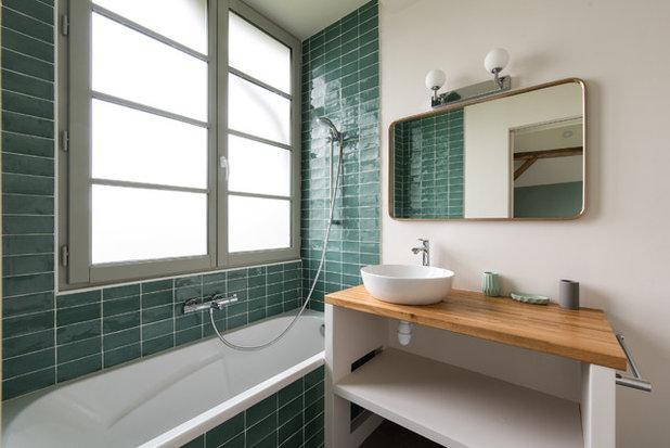 Farmhouse Bathroom by LES CHANTIERS COTTIN