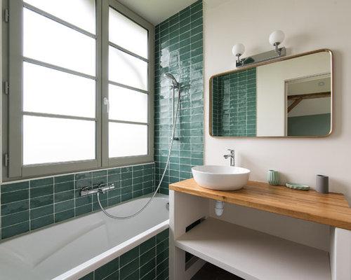 Vasca Da Bagno Francia : Bagno con piastrelle verdi francia foto idee arredamento