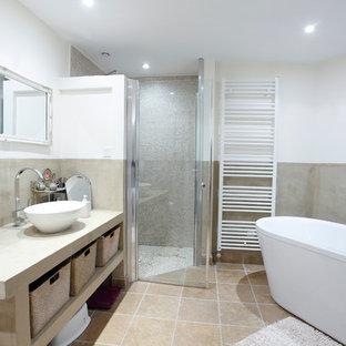 Salle de bain avec travertin : Photos et idées déco
