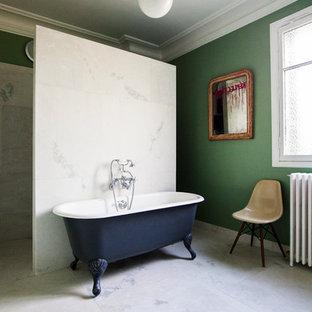 Salle de bain avec une baignoire sur pieds : Photos et idées déco de ...