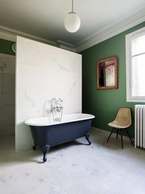 Salle de bain avec une baignoire sur pieds : Photos et idées déco ...