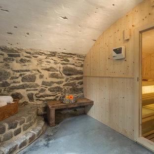 Idée de décoration pour un sauna méditerranéen.