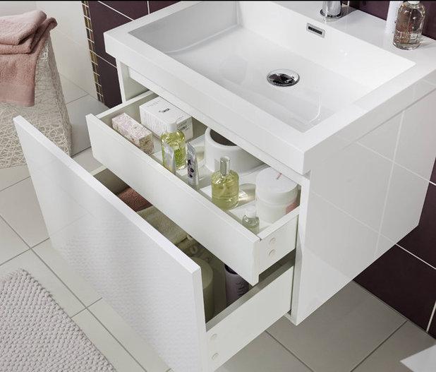 20 astuces rangement pour optimiser une petite salle de bains for Petit meuble rangement salle de bain