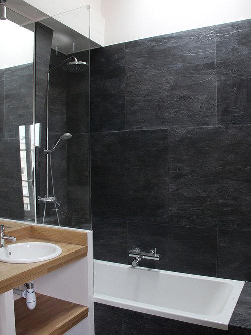 Salle de bain moderne photos et id es d co de salles de bain for Briquette salle de bain