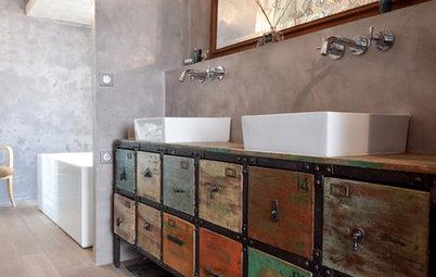 Id e r cup 39 que faire avec des caisses pommes - Lavabo salle de bain style ancien ...