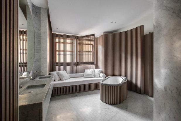 Scandinavian Bathroom by Bernard Touillon Photographe