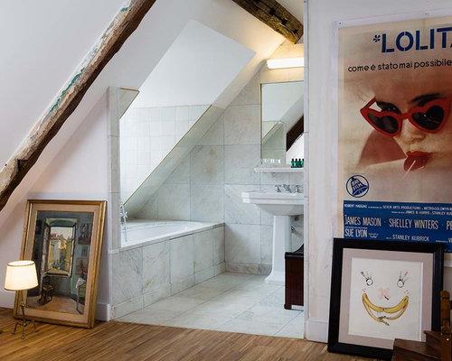 Salle de bain avec une baignoire encastrée : Photos et idées déco ...