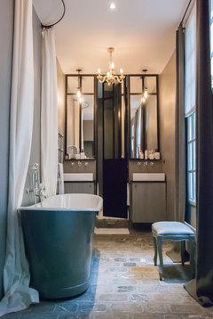 Optimisation chambre salle de bain dressing - Houzz salle de bain ...