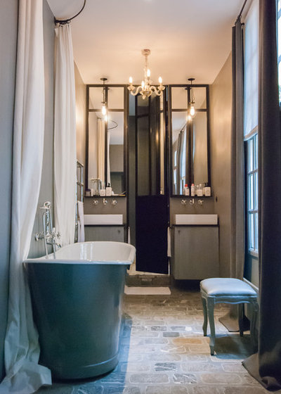 Eclectic Bathroom by LES ATELIERS DU 4