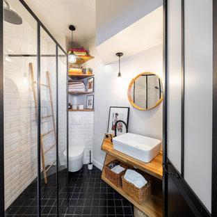 Salle d\'eau avec une douche à l\'italienne : Photos et idées déco de ...