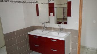 Réalisation d'une salle de bain sur mesure à Pléchatel