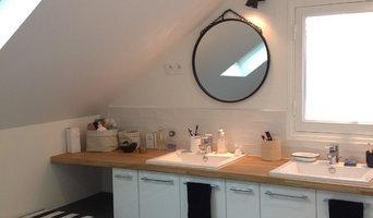 Réaménagement des espaces chambre, salle de bain et pallier