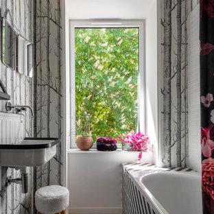 Inspiration pour une salle de bain bohème.