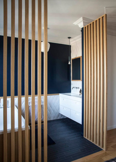 Contemporain Salle de Bain by Boclaud Architecture