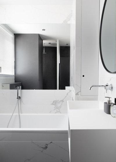 Scandinavian Bathroom by Lagom architectes