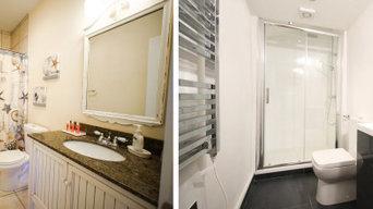 Rénovation de salle de bain - Remplacement d'une baignoire par une douche