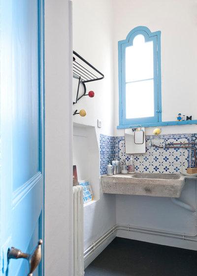 il fresco bagno di una casa al mare