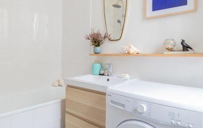 Avant/Après : Deux mini-salles de bains de moins de 4 m2 rénovées