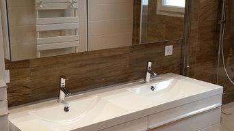 Réovation complète de salle de bain