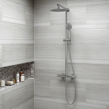 Round 250mm Cool to Touch Shower Kit with Handheld