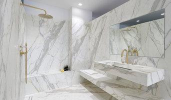Salle bains marbre luxe sur-mesure