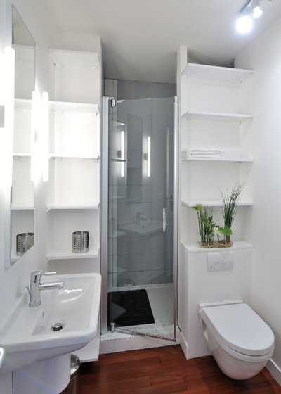 Современный Ванная комната by Fables de Murs