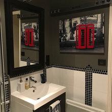 Salle de bain- Art déco/ Manhattan - Industrial - Badezimmer ...