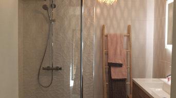 Salle de bain contemporaine à Pacé #01